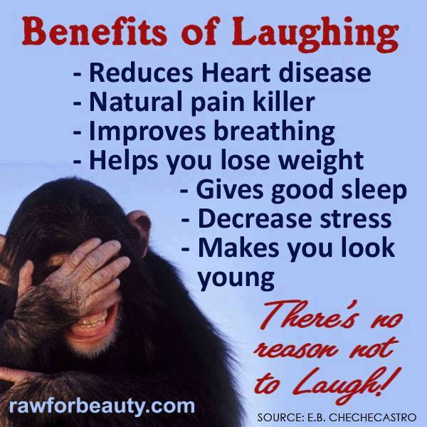 the benefits of laughing essay Why is laughter the best medicine  laughter has many benefits to us  laughing will also boost your immune system by increasing the rate of release of the.